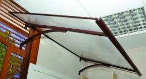 Skaidrios stogo dangos, kanalinio polikarbonato panaudojimo pavyzdys 5